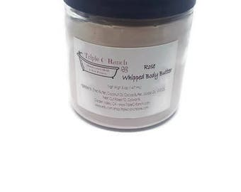 Rose Whipped Body Butter - Homemade Lotion - Natural Body Butter- Shea Butter - Feet Butter- Luxury Butter -Handmade Lotion
