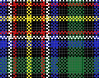 Custom Tartan Plaids for Needlepoint Charted