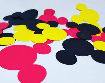 Mickey Jumbo Confetti, Mickey Confetti, Mickey Cutouts, Mickey Party Supplies, Mickey Decor, Mickey Party Decor, Mickey Mouse Confetti