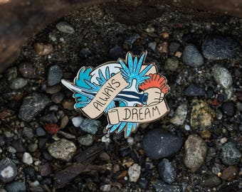 Always Dream Blue Glaucus Enamel Pin