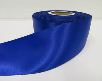 3mm 7mm 10mm 15mm 25mm 38mm 50mm Rolls, Royal / Cobalt Blue Satin Ribbon, 2, 10 or 25 metres, Double sided,