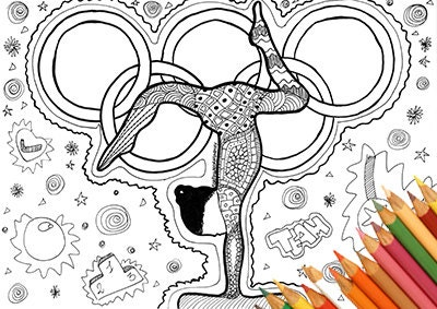olympic coloring artistic gymnastics coloring coloring