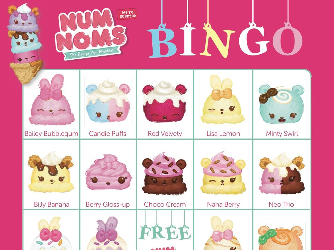 Num noms bingo cards 14 unique cards with extra large ampliar solutioingenieria Images
