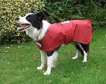 waterproof dog coat checked polar fleece inner reflective all sizes