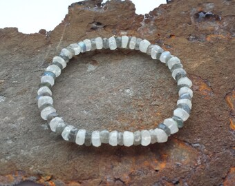 Moonstone and Labradorite Bracelet