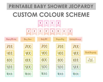 Pink baby shower jeopardy game jeopardy baby shower baby custom color baby shower jeopardy game jeopardy baby shower baby shower games solutioingenieria Images