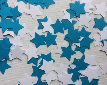 Blue and White Star Table Confetti, Table Decorations, Party Decor, Celebrations, Weddings, Baby Showers