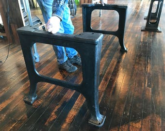 Antique Industrial Iron Base Leg Set (set of 2)SHIPPING NOT INCLUDED