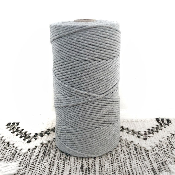 LIGHT GREY Single Twist Cord 1kg