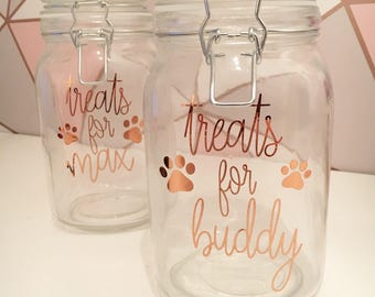Clip Top Glass Personalised Treat Jar
