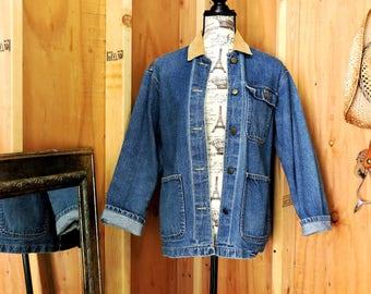 80s denim jacket / Vintage jean jacket / size M / 1980s Cherly Tiegs made in USA / GravelStreetVintage