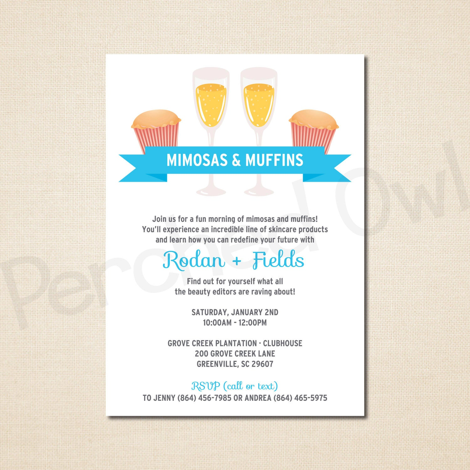 Mimosas muffins invitation direct selling business zoom magicingreecefo Image collections