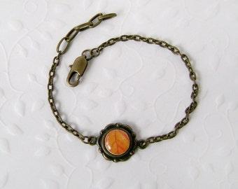 Bracelet . Autumn leaves bracelet . Handmade bracelet . Vintage style . Autumn . Leaves . bangle