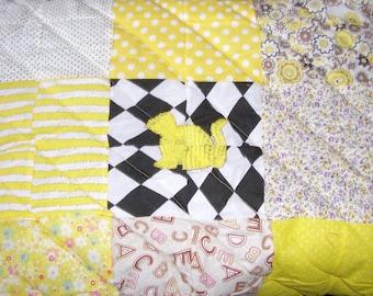 48cm Square Handmade Ferret Quilt