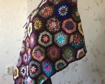 ON SALE - 10% OFF Granny Square Crochet Scarf...Wrap...Shawl