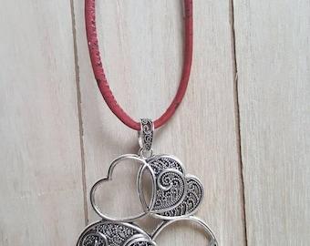Cork necklace different colors