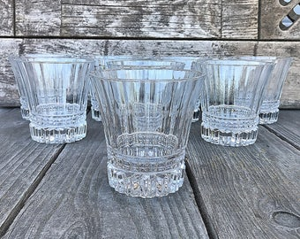 Cristal D'Arques Durand Victoria Double Old Fashioned Clear Crystal Glasses SET OF 8