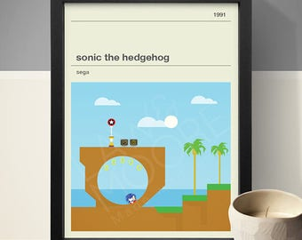 Sonic The Hedgehog Gaming Print, Gaming Print, Games, Sonic Poster