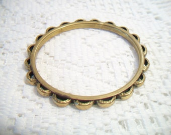 Vintage Brass Scalloped Bangle Bracelet Boho Chic Fashion Accessories For Her