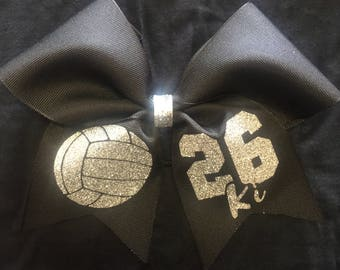 Volleyball Bow - with Name & Number