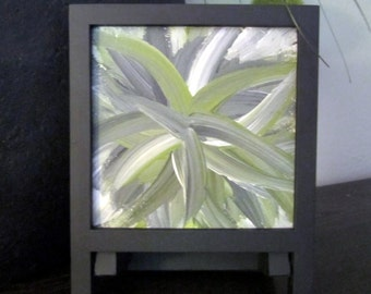 Abstract painting | botanical abstract | gardener gift | floral abstract | floral painting | small canvas art | botanical painting
