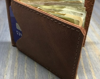 Bi-fold Money Clip and Card Wallet