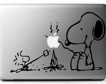 Sticker decal SNOOPY & WOODSTOCK, suitable for MAC - MacBook pro air 11, 13 15''