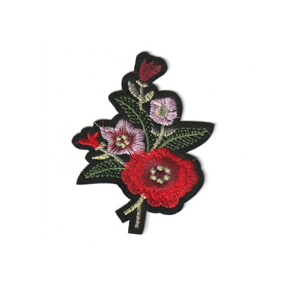"""Patch fusible trendy """"flower"""" pattern"""
