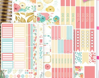 ECLP Vertical Weekly Planner Stickers Weekly Planner Kit Erin Condren Stickers Erin Condren Live Planner Functional Stickers SET15