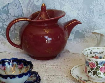 Hall Teapot Windshield Burgandy.