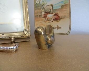 Brass Photo Holder Brass Bird Brass Place Card Holder Miniature Brass Bird Brass Decor Gold Bird