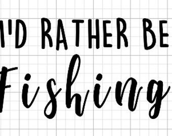 I'd rather be fishing Decal