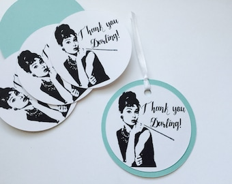 Breakfast At Tiffany's Inspired Thank You Tags