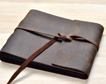 Personalized custom Leather Photo Album,leather guest book,personalized guestbook