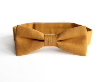 toddler bow tie, kids bow tie, boys bow tie, yellow bow tie, bow tie for toddlers
