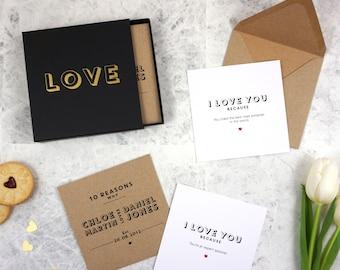 10 Reasons Why I Love You Keepsake Box