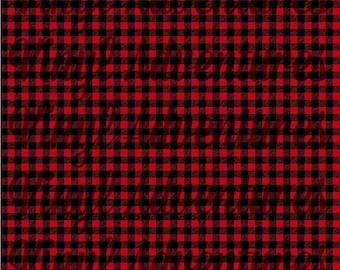 Buffalo Plaid HTV, Red Black Buffalo Plaid Pattern Heat Transfer Vinyl, Plaid Printed HTV, Patterned HTV, Lumberjack, Siser Easyweed
