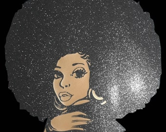 Black Women with Sparkling Afro