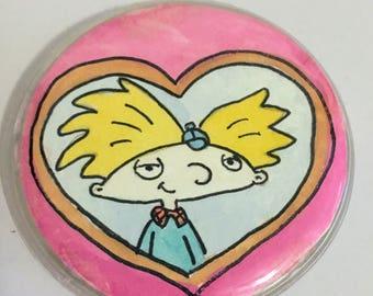 Hey Arnold inspired handmade button/pin/badge