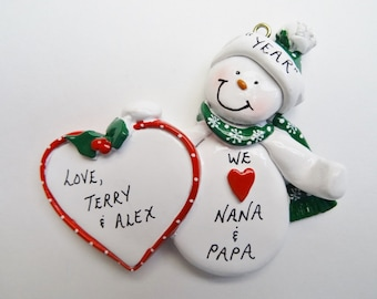 Personalized Christmas Ornament for Grandparents - Christmas Ornament for Aunts and Uncles - Christmas Ornaments for Mom and Dad