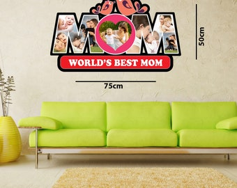 personalized mom wood collage