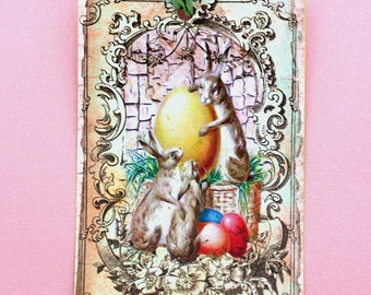 Vintage Easter Fun Gift Tags