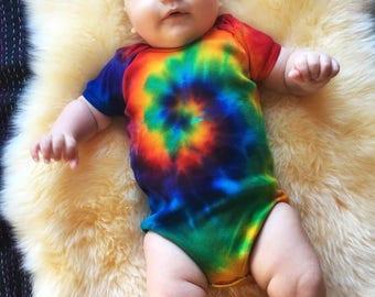Rainbow Onesie - Tie Dye One Piece - Baby Creeper - Classic Tie Dye
