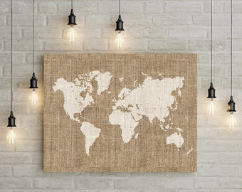 rustic world map etsy