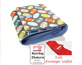 Kids Cash Envelope Wallet Sewing Pattern PDF, Cash Budget System Wallet , Give Save Spend, Kids Wallet- NO PRINTER required