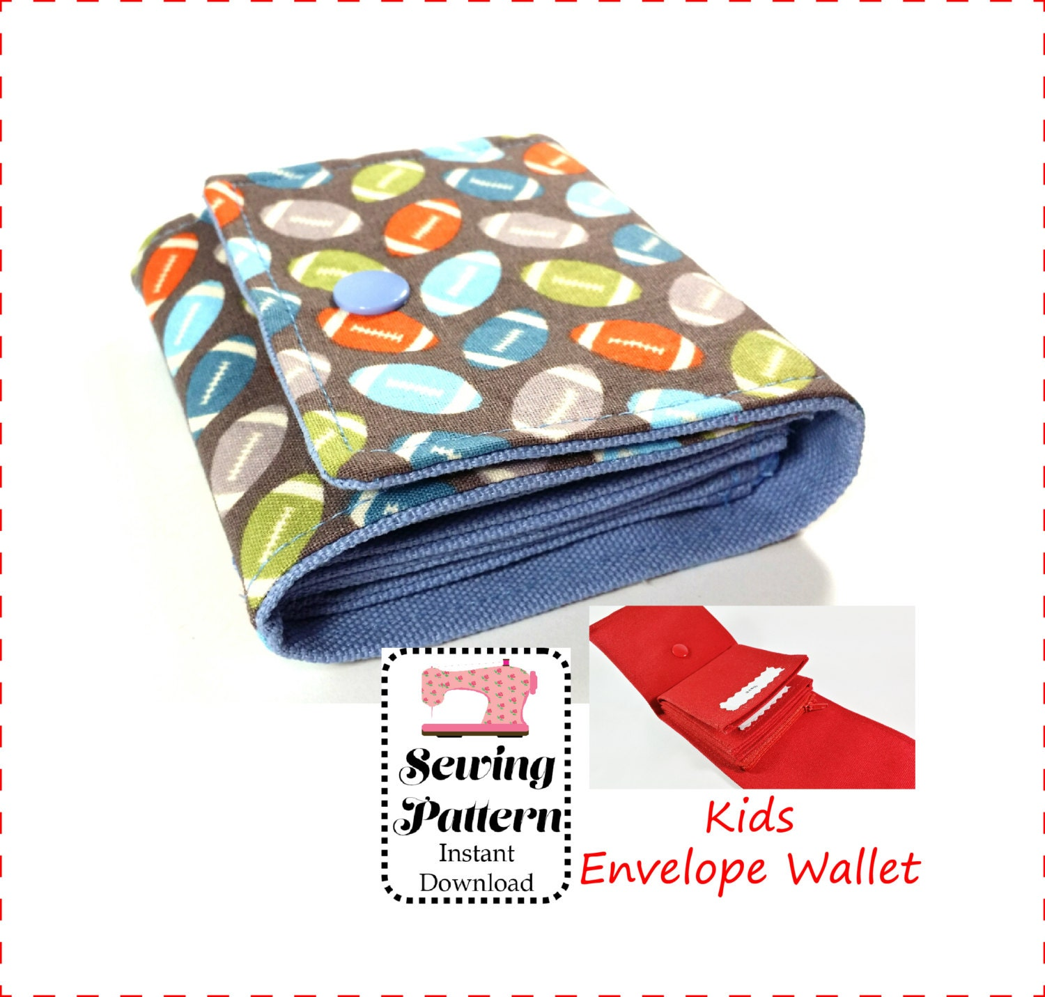 Kids cash envelope wallet sewing pattern pdf cash budget zoom jeuxipadfo Choice Image