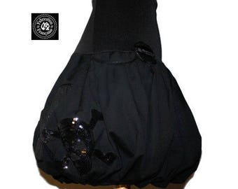 Totally black rock style ball skirt larger sizes to choose