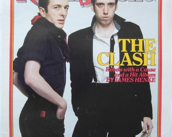 Original 1980 The Clash Rolling Stone Poster