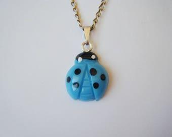 Pendant - Turquoise blue Ladybug