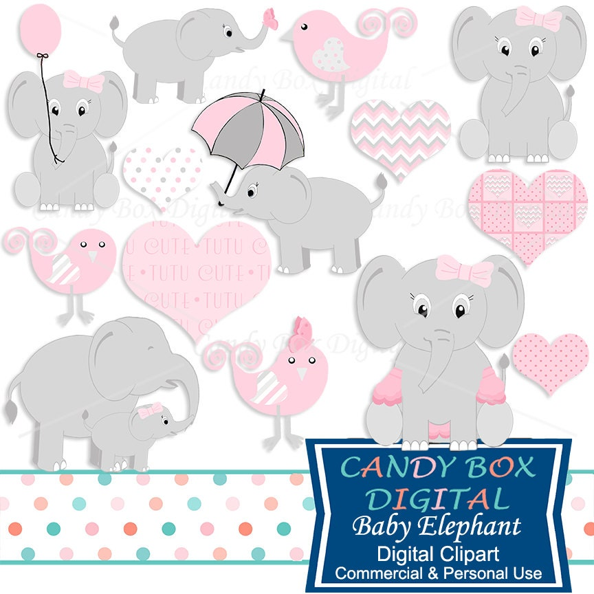 Baby Girl Elephant Clipart Baby Girl Clip Art Commercial